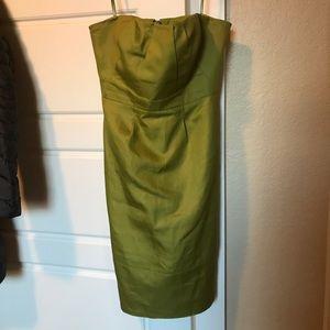 Jcrew short green pencil dress